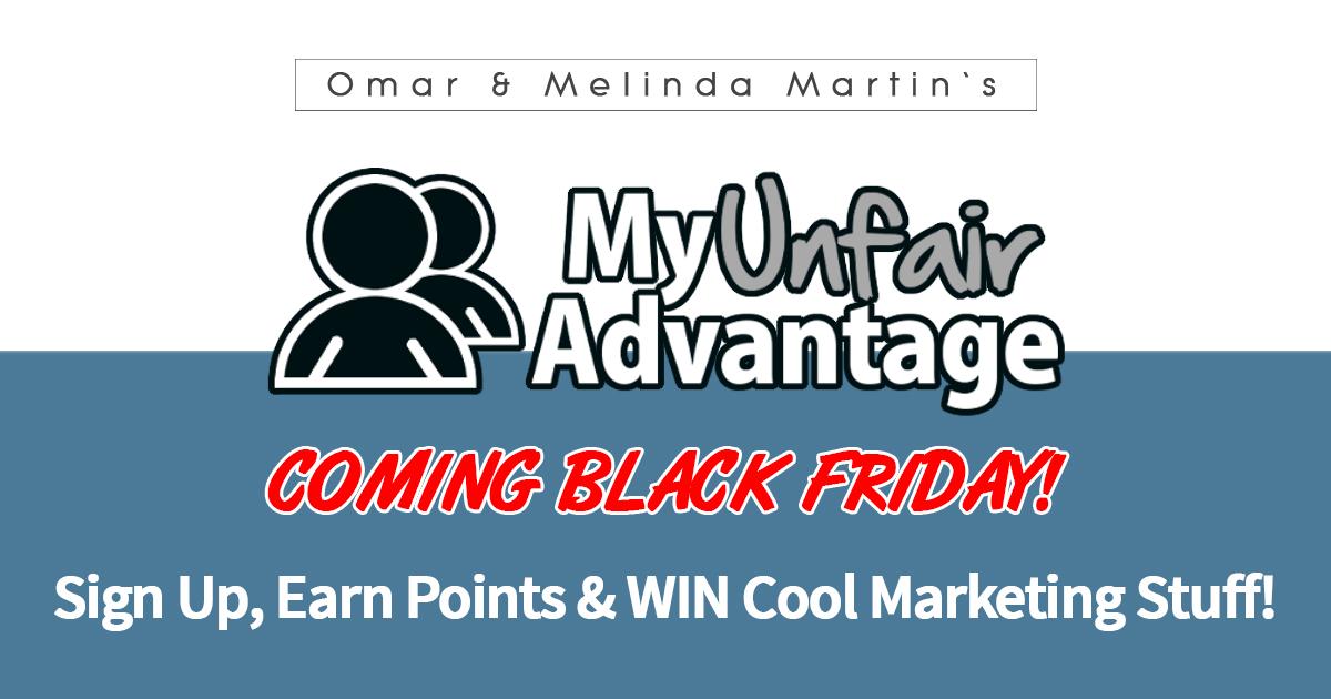 Myunfairadvantage Launch Contest Win Cool Marketing Stuff